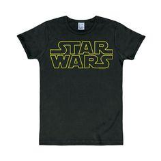 La Guerra de las Galaxias - Camiseta con el logotipo Star Wars - color negro #camiseta #starwars #marvel #gift