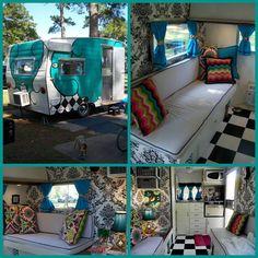 Vintage Camper by effie Old Campers, Little Campers, Retro Campers, Happy Campers, Vintage Campers, Vintage Motorhome, Vintage Rv, Vintage Caravans, Vintage Travel Trailers