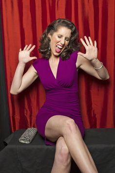 Heather Roop giving jazz hands  (Photo Courtesy of Victoria Will / TV Guide Magazine)