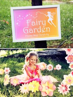 Enchanted Fairy Garden Party: love the field of flowers idea