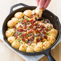 To bring pizza party flavor to a fun, easy appetizer, we turned classic pepperoni pie into a rich, cheesy dip that we could bake and serve right in the skillet.
