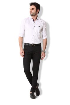Give yourself an ultra-modern casual look with these black coloured chino pants from KOZZAK. Mens Chino Pants, Casual Looks, Suits, Amazon, Modern, Color, Black, Fashion, Moda