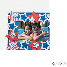 Patriotic Photo Frame Magnet Craft Kit, Photo Crafts, Crafts for Kids, Craft & Hobby Supplies - Oriental Trading