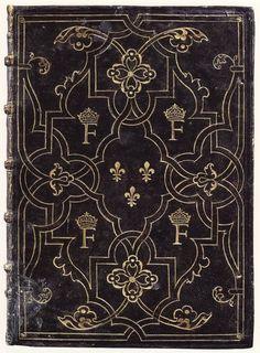 Reliure du manuscrit de Démosthène (1546) par le « relieur de Salel » (conservé à la BNF, tiré de M. P. Laffitte 2001)