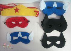 Máscaras de super heróis em feltro | Fofura em Feltro | Elo7