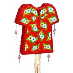 Pop Out Hawaiian Shirt Pull String Piñata - Mexican Party Decoration Ideas