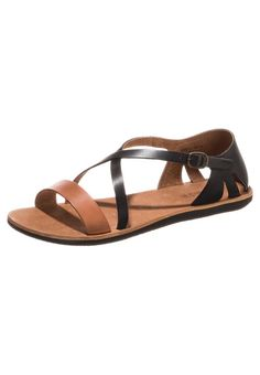Kickers - SPARTAME - Sandalette - noir/camel, 70,-