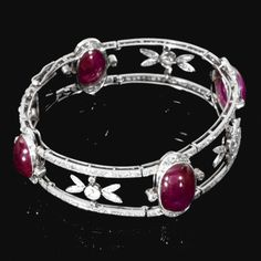 RUBY AND DIAMOND BRACELET, CHAUMET,  EARLY 20TH CENTURY