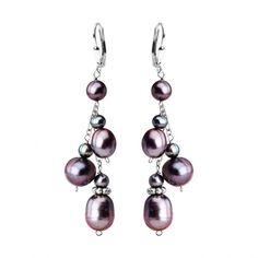Fresh Water Pearl Sterling Silver Happy Earrings