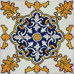Portuguese Ceramic Tile | 2520 Portuguese Spanish wall decorative ceramic tiles azulejo ...