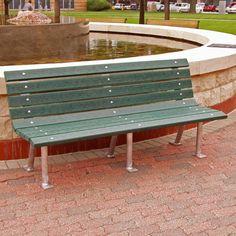 Outdoor Jayhawk Plastics Saint Pete Recycled Plastic Commercial Park Bench Green - PB 4GRESTP