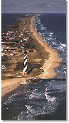 Cape Hatteras Lighthouse in the Outer Banks North Carolina Oh The Places You'll Go, Places To Travel, Places To Visit, Travel Destinations, Wind Surf, Grands Lacs, Photography North Carolina, Lighthouse Pictures, Image Nature