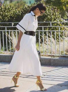 fe55e7a67e Spring neutrals monochromatic white outfit snakeskin heels TOPSHOP Satin  Bias Midi Skirt #TheStoriedLife Lana Jackson DC Sty… | F a s h i o n //  Spring