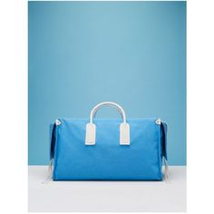 Diane von Furstenberg Weekender Canvas Handbag ($419) ❤ liked on Polyvore featuring bags, luggage, blue and luggage & travel