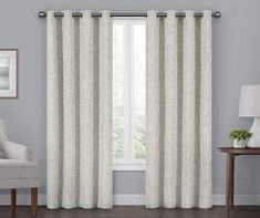 Shop for Eclipse Gemini Blackout Window Panel. Get free delivery On EVERYTHING* Overstock - Your Online Home Decor Outlet Store! Blackout Panels, Blackout Windows, Blackout Curtains, Grommet Curtains, Drapes Curtains, White Curtains, Light Blocking Curtains, Thing 1, Window Styles