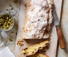 Baker and author Gerhard Jenne shares his festive recipe for one of Germany's national treasures; Serve with coffee for a festive breakfast. Christmas Treats, Christmas Baking, Christmas Recipes, Christmas Cakes, Christmas Stollen Recipe, Sugar Icing, Pastry Brushes, Spice Mixes, Food Festival