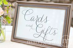 Cards and Gifts Table Sign - Wedding Table Reception Seating Signage - Matching Numbers Available Card,Gift Sign SS01