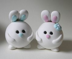 Round Bunny Wedding Cake Topper | Flickr - Photo Sharing!