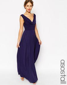 Image 1 - ASOS TALL WEDDING - Maxi robe à col bénitier