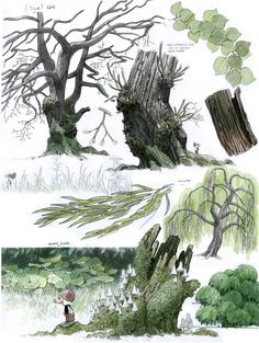 Did 'I ever mentioned that I like to draw trees? 7bte Zwerg visual development, environment production design The 7th Dwarf 3D feature Film