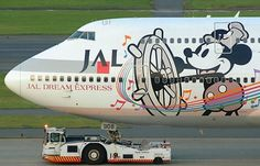 Walt Disney B747 Japan Airlines Steamboat Willie