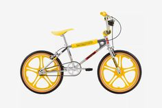 Mongoose 'Stranger Things' BMX Freestyle Bike is a Sweet Retro Ride 20 Inch Bicycle, Bmx Bicycle, Cargo Bike, Bmx Bikes, Cool Bikes, Bicycle Shop, Mongoose Bmx, Yellow Online, Stranger Things Season 3