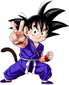 Goku (Dragon Ball) (c) Toei Animation, Funimation & Sony Pictures Television Dragon Ball Gt, Kid Goku, Majin, Chibi, Manga Dragon, Dbz Characters, Goku Super, Akira, Illustration