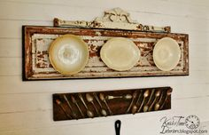 Ironstone Plates and Tarnished Silverware Wall Display - Easy, Inexpensive and UNIQUE!  ~~~by Knick of Time  http://knickoftimeinteriors.blogspot.com/