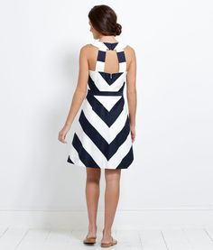 Awning Stripe Halter Dress