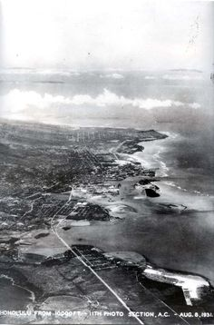 View of Honolulu and Waikiki. August 8, 1931.
