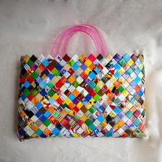 Candy Wrapper and Potato Chip Bag Purse by Unbeige for $45.00 #zibbet