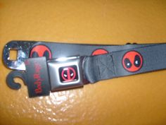MARVEL COMIC DEADPOOL POLYESTER BUCKLE DOWN SEATBELT STYLE ADJUSTABLE BELT OSFM #BUCKLEDOWN