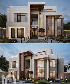 Modern House Facades, Modern Exterior House Designs, Modern Villa Design, Classic House Design, Modern Architecture Design, Dream House Exterior, House Arch Design, 2 Storey House Design, House Outside Design