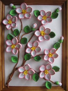 Paper Quilling Art. QUILLED FLOWERS on Handmade Pictures