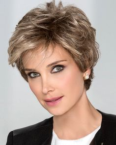 Petite/Average Impulse by Ellen Wille Wigs - Hand Tied, Lace Front, Monofilament Top Wig Short Haircut Styles, Girls Short Haircuts, Short Layered Haircuts, Short Hairstyles For Women, Bob Hairstyles, Pretty Hairstyles, Perfect Hairstyle, Pixie Haircuts, Beach Hairstyles