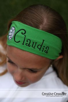 Personalized Girls Headband With Volleyball  In by DeerpathDesigns, $8.00