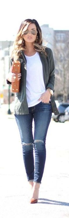 Really cool Summer urban outfit! Aviator sunglasses: www.visiondirect....
