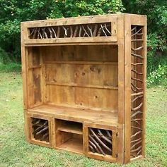 Rustic Entertainment Center Log Home Cabin Furniture