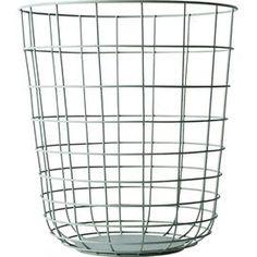 Wire Basket in Moss Green