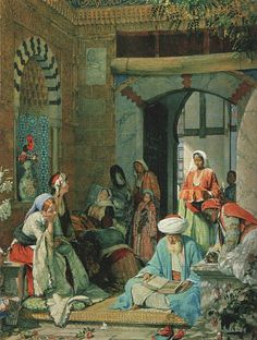 """KDS Photo, Yale University Art Gallery, oil painting by John Frederick Lewis, """"And the Prayer of Faith Shall Save the Sick"""", Jean Leon, Empire Ottoman, Arabian Art, Exotic Art, Academic Art, Great Paintings, Arabian Nights, North Africa, Art Plastique"""