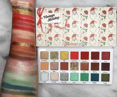 Matte Eyeshadow, Eyeshadow Palette, Indie Makeup, 1950s Christmas, Vintage Holiday, Creative