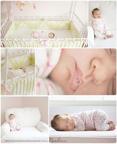 ...love the idea of taking the photo's in the nursery. Smart thinking