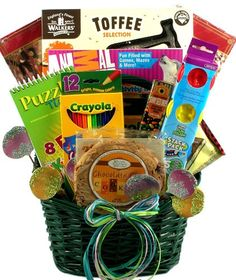 Kids gift basket for children--Giftbasketvillage.com 65.00
