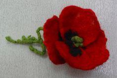 Felt JewelryFelt FlowerFelt NecklaceFelt Flower by RumiWay on Etsy
