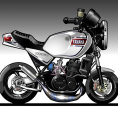 Yamaha Sr400, Ducati Motorcycles, Suzuki Motorcycle, Moto Bike, Bike Art, Motorcycle Bike, Gp Moto, Minibike, Cafe Racer Build