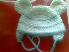 Schema gratuito per realizzare, all'uncinetto, un cappellino con orecchie Winter Hats, Crochet Hats, Beanie, Knitting, Pictures, Diy, Hobby, Baby Things, Recycling