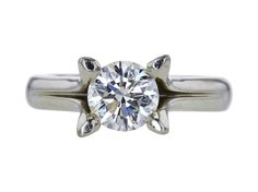 GIA 1.50 CT Round Cut Solitaire Ring, J, SI2 Sold at Auction for $3,731