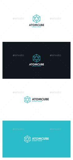 Atom Cube Logo Template PSD, Vector EPS, AI. Download here: http://graphicriver.net/item/atom-cube-logo/13088892?ref=ksioks