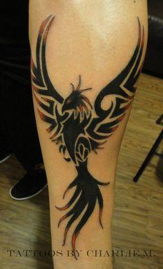 Amazing Tribal Phoenix Tattoo On Arm | Tattooshunt.com