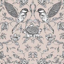 Wallpaper - Birds - Pink